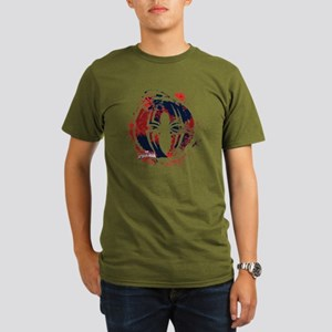 Spiderman Paint Organic Men's T-Shirt (dark)